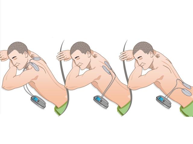 elektróda felhelyezési pontok nyak-hát és derékfájás esetén