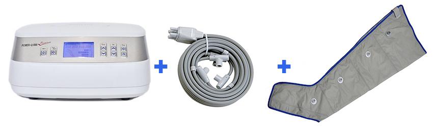 Power Q-1000 Premium nyirokmasszázs gép 1db láb mandzsettával